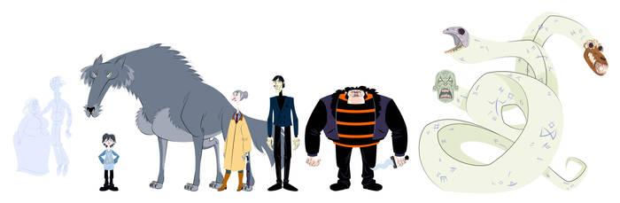 The Graveyard Book Characters by ninomaljevic