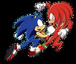 Sonic VS Knuckles! by MvStanislavsky