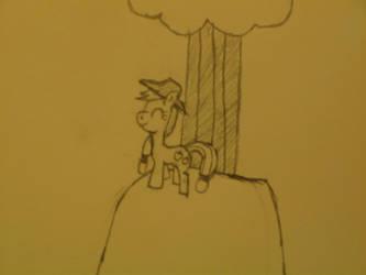 NATG Day 4: Pony on a hilltop by anime-underdog