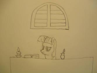 NATG Day23: Pony staying up by anime-underdog