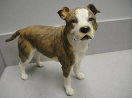 Pitbull figurine by pookyhorse