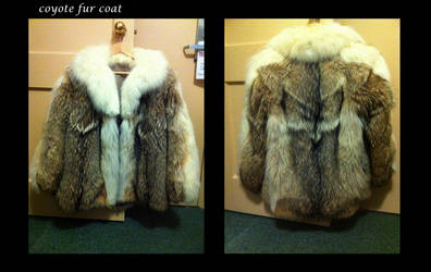 vintage coyote fur coat by pookyhorse