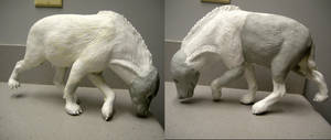 Hyena sculpture WIP update 3 by pookyhorse
