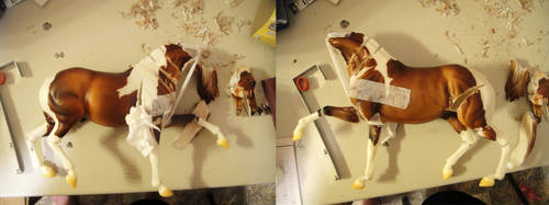 Fasfer custom breyer WIP by pookyhorse