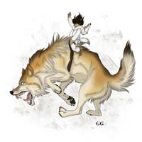 Wolf Bronc by pookyhorse