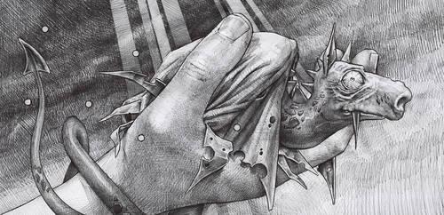 dragon in my hand by DanielGrzeszkiewicz