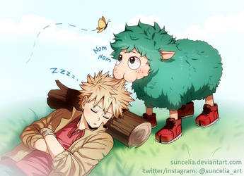 BNHA Kacchan and Deku sheep by Suncelia