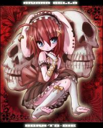 SKULL GIRL ARI by B0RN-T0-DIE