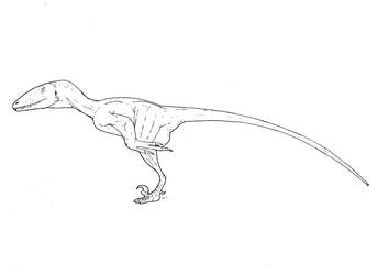 Sketch-Featherless Deinonychus by Smnt2000