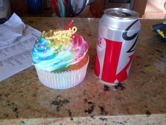 Birthday cupcake by JohnTheImaginative