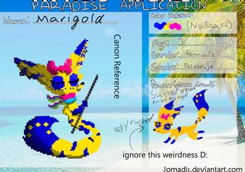 Marigold Paradise Application by PoppyseedMuffiin