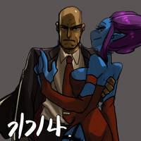 Agent 47 and Evelynn by ipgae