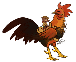 Go West Rooster Rider by Friendlyfoxpal