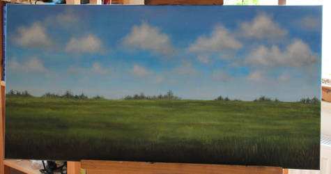 Landscape - WIP - how to add more depth? by corienb