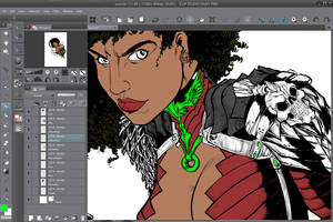 Manga Studio + Surface 3 Early Sketch part 3 by WEXAL