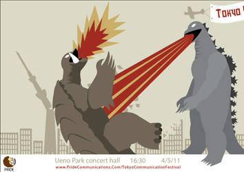 Tokyo Godzilla Poster 1 by FirmusDesign