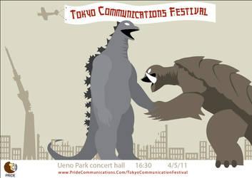 Tokyo Godzilla Poster 2 by FirmusDesign