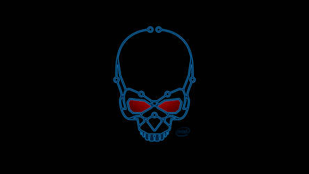 Intel Skull Wallpaper 1080 by euphoricallydead