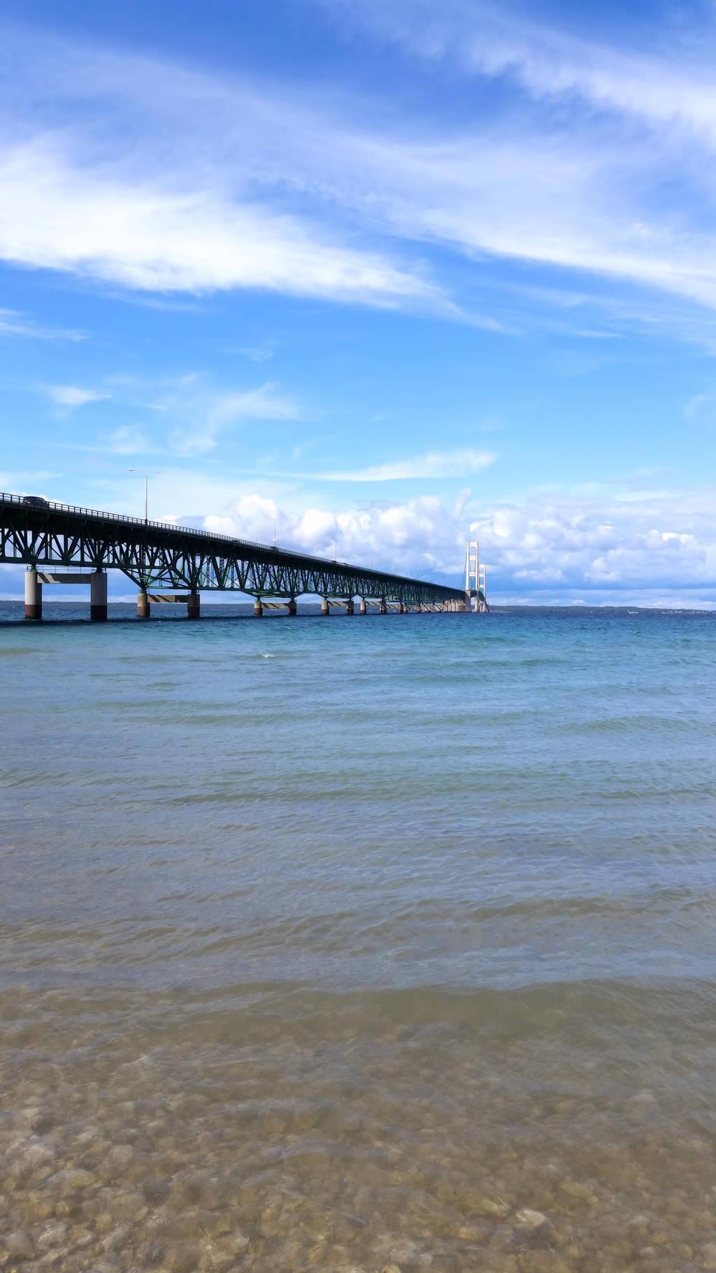 Mackinaw Bridge Tall by euphoricallydead