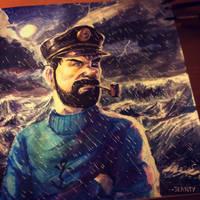 Captain Haddock Fan art by Wallach1