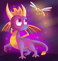 Spyro and Sparx by Domestic-hedgehog