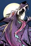 Werewolf Portrait by malara-art