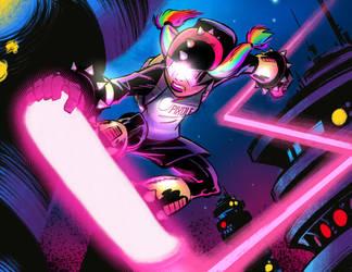 Laser Skater! by malara-art