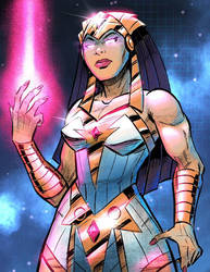 Cosmic Warrior Princess by malara-art