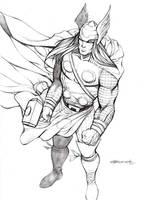Thor sketch by johnnymorbius