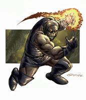 Darkseid by johnnymorbius