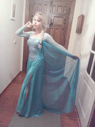 my Elsa cosplay WIP by MissWeirdCat
