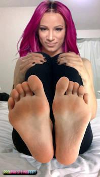 WWE Sasha Banks Feet by ProWrestlingFeet