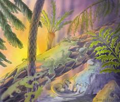 Leaellynasaura - copic blog by Marker-Guru