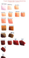 Skin swatches - mar 2014 by Marker-Guru