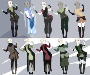 F2U Fantasy Medieval Clothes Wip by Stock-Adopt-Martina