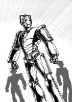 Cybermen 1 (2006) Inks by SteveAndrew