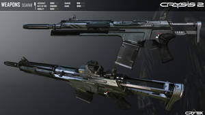 Crysis 2 Mk21 SCARAB Carbine by Scarlighter