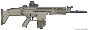 Herstal SCAR-H Modern Warfare 2 v2.0 (MW3 Holo) by Scarlighter