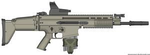 Herstal SCAR-H Modern Warfare 2 v2.0 (ITL MARS) by Scarlighter
