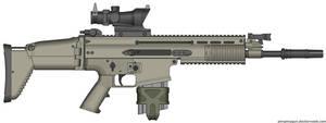 Herstal SCAR-H Modern Warfare 2 v2.0 (ACOG) by Scarlighter