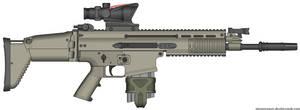 Herstal SCAR-H Modern Warfare 2 v2.0 (MW3 ACOG) by Scarlighter