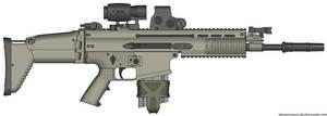 Herstal SCAR-H Modern Warfare 2 v2.0 (MW3 Hybrid) by Scarlighter