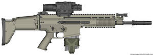 Herstal SCAR-H Modern Warfare 2 v2.0 (Thermal) by Scarlighter
