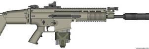 Herstal SCAR-H Modern Warfare 2 v2.0 (SOPMOD) by Scarlighter