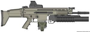 Herstal SCAR-H Modern Warfare 2 v2.0 (Grenadier) by Scarlighter