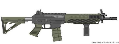 Black Ops 2 SWAT556 (Grip) by Scarlighter