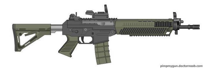 Black Ops 2 SWAT556 (Red Dot Sight) by Scarlighter