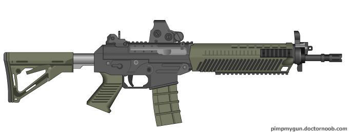 Black Ops 2 SWAT556 (EOTech Sight) by Scarlighter