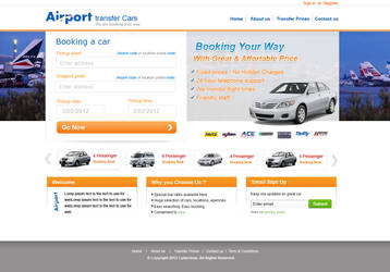 Airport transfer car web sites by webcreater