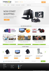 Shopping store template by webcreater